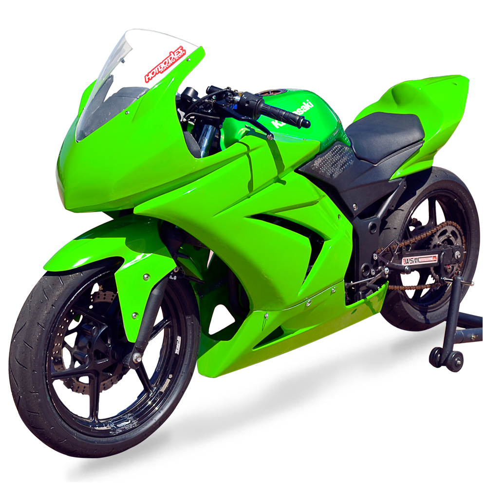 Ninja 250r 2008 12 Race Bodywork Color Form Green