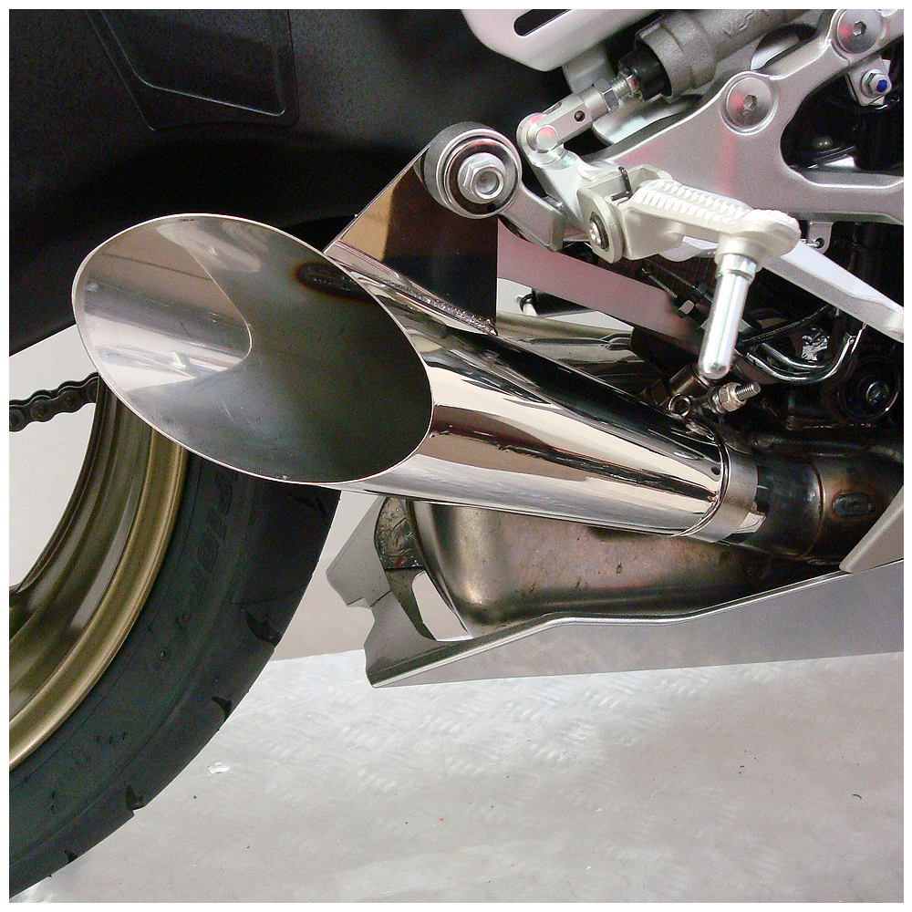 Yzf r6 megaphone exhaust 2009 12 hot bodies racing for Best exhaust system for yamaha r6