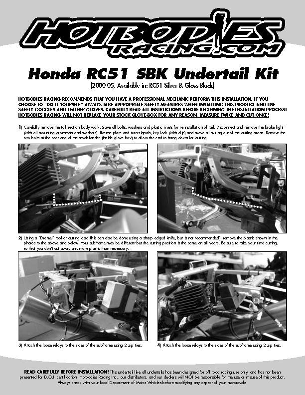 RC51 2000-07 Undertail