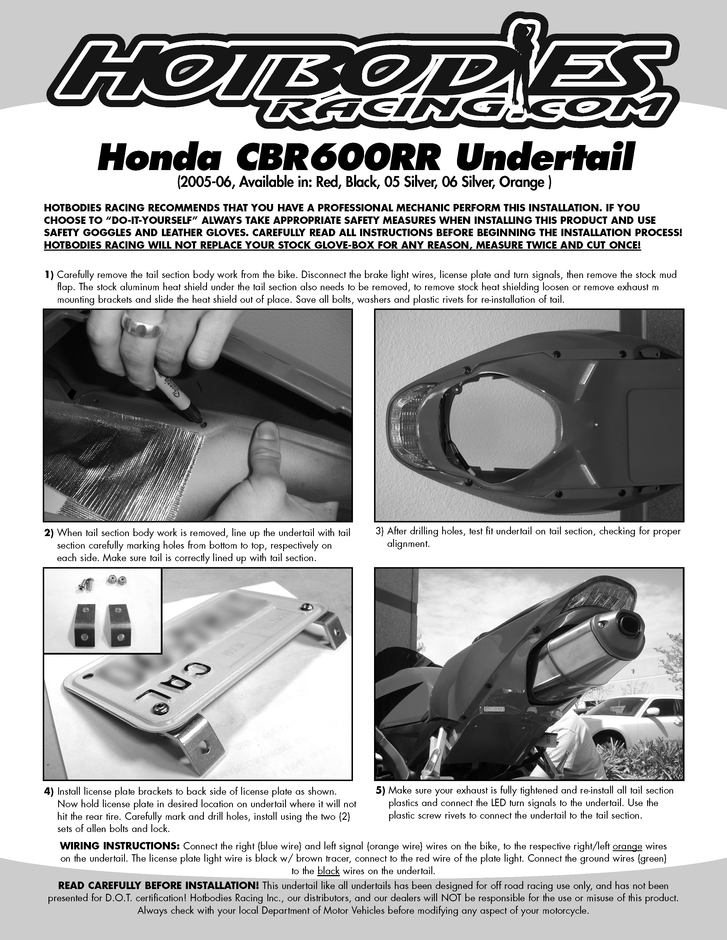 Cbr600rr undertail 2005 15 hot bodies racing cbr600rr 2005 06 undertail installation asfbconference2016 Gallery