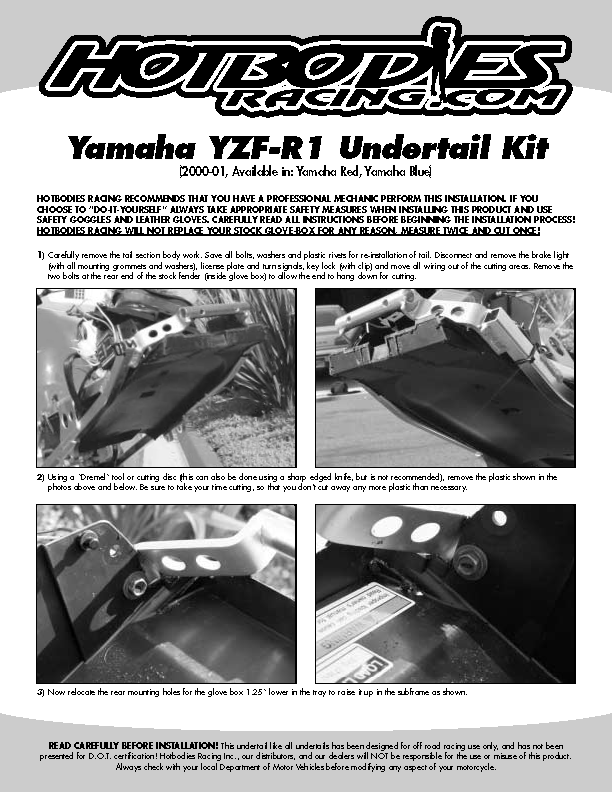 YZF-R1 2000-01 Undertail Installation - HotbosRacing.com on