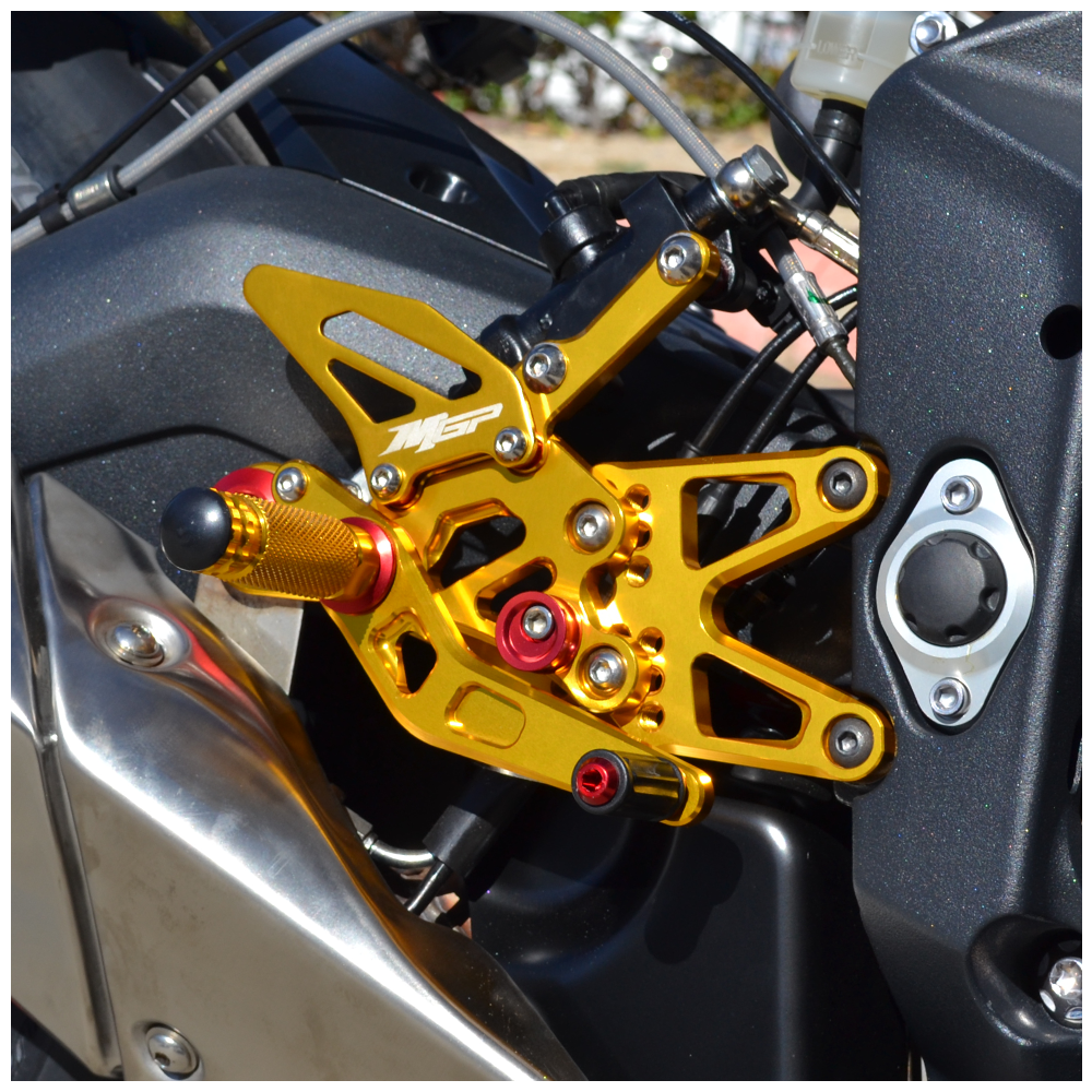 CNC Adjustable Rearset Footrest Foot Pegs Rear Sets for Triumph Daytona 675 2006 2007 2008 2009 2010 2011 2012 Gold